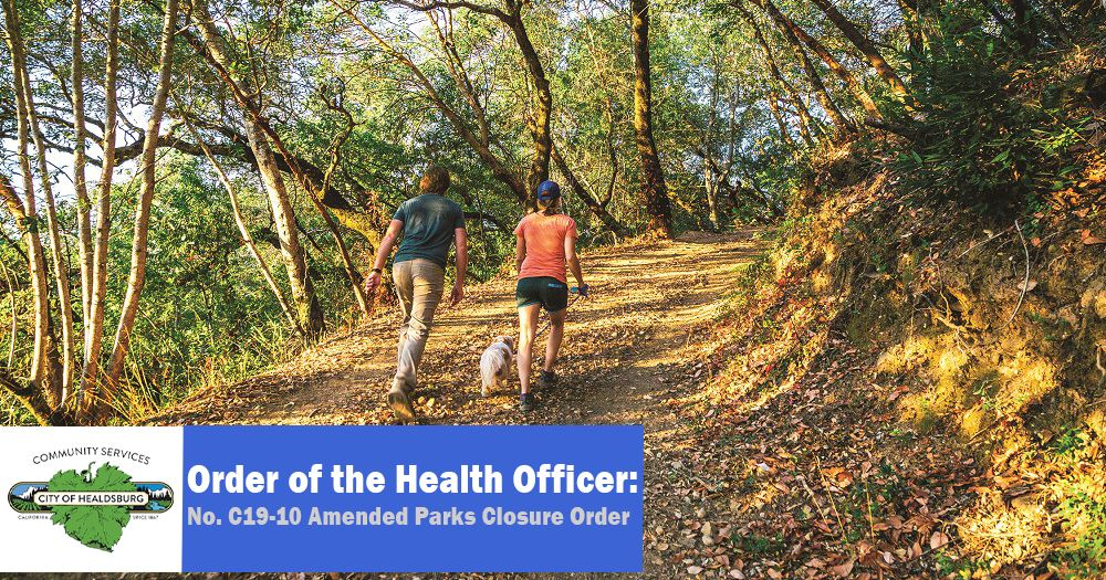 Amended Parks Closure Order