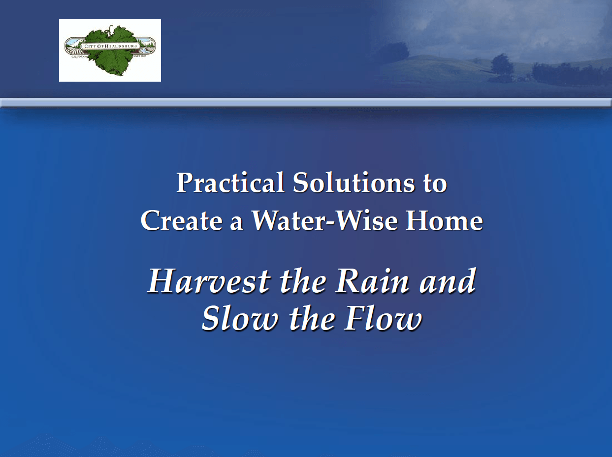 Harvest the Rain and Slow the Flow Daily Acts Presentation